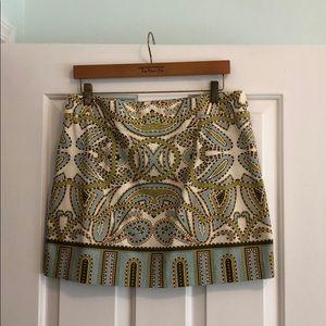J. Crew Factory printed skirt